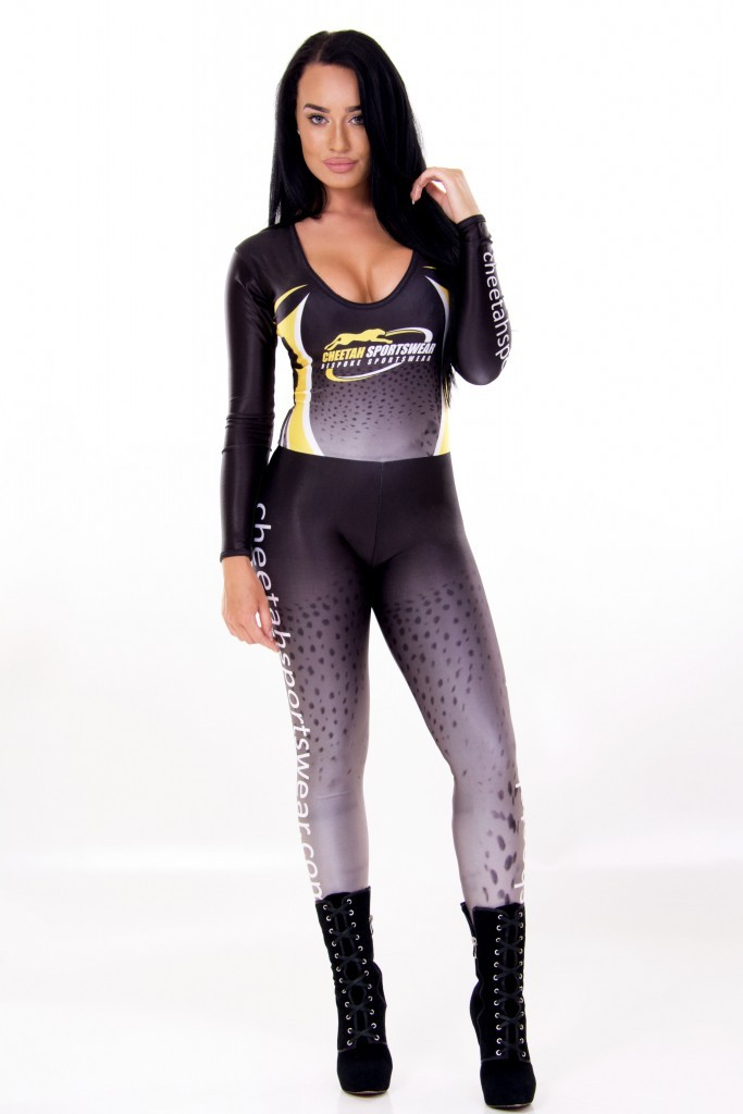 Gridgirl Outfit Scoop Neck Catsuit - Tight Trousers - THE HOSTESS COMPANY