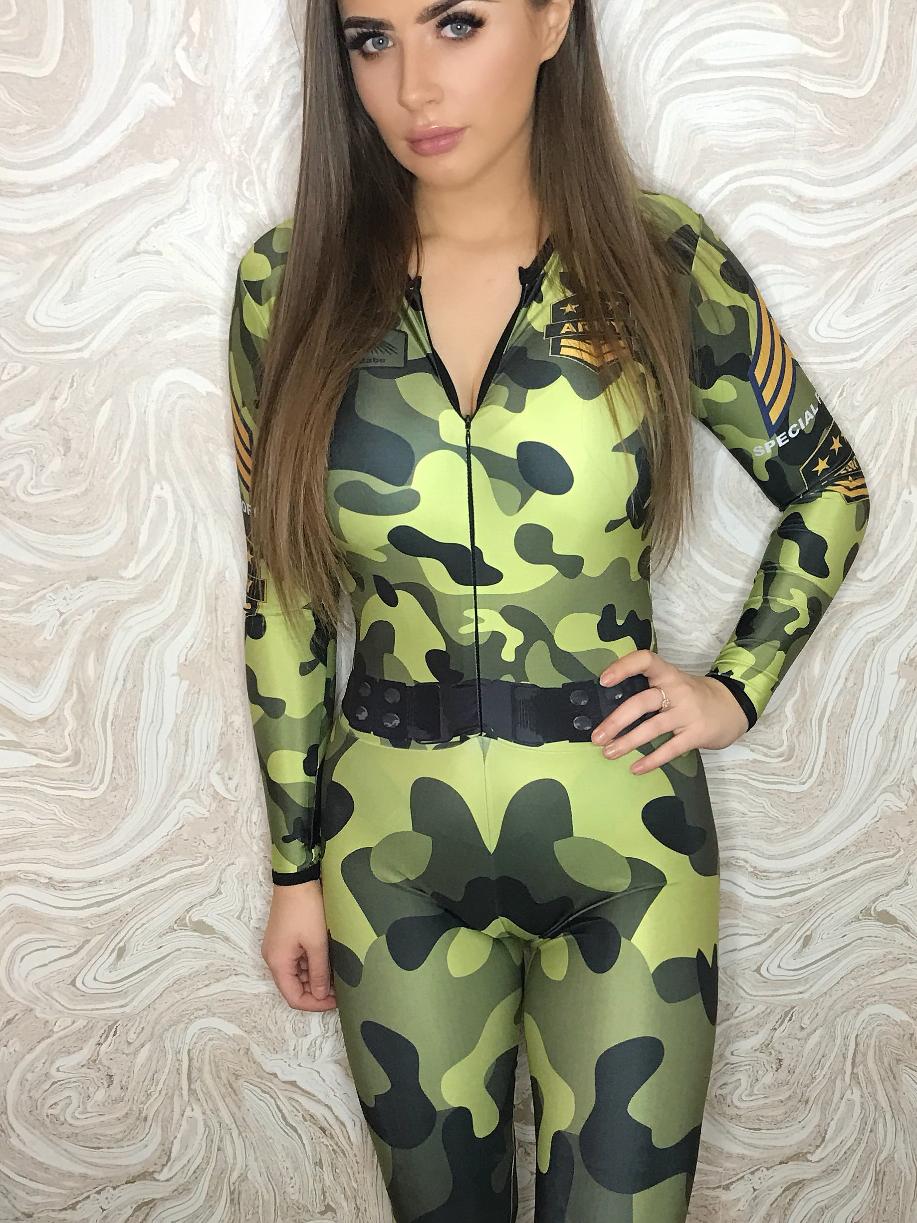 the-Hostess-Company-GRIDGIRL-OUTFIT-Catsuit-Army-1