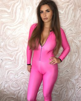the-Hostess-Company-GRIDGIRL-OUTFIT-Catsuit-pink-einfarbig-2